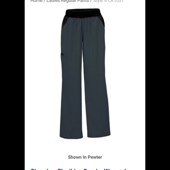 6defc81900e Cherokee Pants | Nwt Cargo Scrub Pewterblack Size M | Poshmark